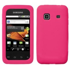 Samsung Galaxy Prevail Solid Skin Cover - Hot Pink