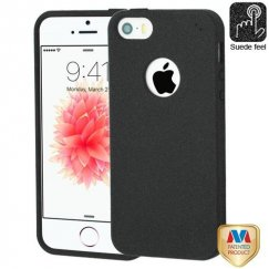 Apple iPhone 5s Black Frosted SPOTS Candy Skin Cover