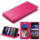 ZTE Grand X 3 / Warp 7 Hot Pink Wallet with Tray