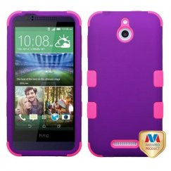HTC Desire 510 Rubberized Grape/Electric Pink Hybrid Case