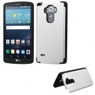 LG G Vista 2 Silver Inverse Advanced Armor Stand Case with Card Wallet