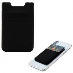 Black Double-Layer Adhesive Card Pouch