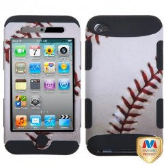 Apple iPod Touch (4th Generation) Baseball-Sports Collection/Black Hybrid Case