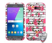 Pink Fresh Roses/Electric Pink Hybrid Phone Protector Cover [Military-Grade Certified]