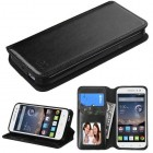 Alcatel One Touch Pop Astro Black Wallet(with Tray)