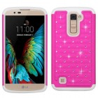 LG K10 Hot Pink/Solid White FullStar Protector Cover