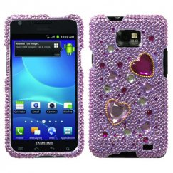 Samsung Galaxy S2 Love Crash Diamante Case