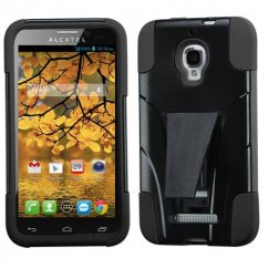 Alcatel One Touch Fierce Black Inverse Advanced Armor Stand Case