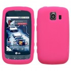 LG Optimus S Solid Skin Cover - Hot Pink