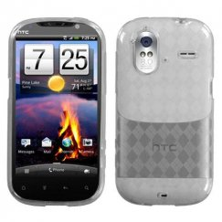 HTC Amaze 4G T-Clear Argyle Pane Candy Skin Cover