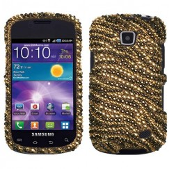 Samsung Illusion SCH-i110 Tiger Skin (Camel/Brown) Diamante Case