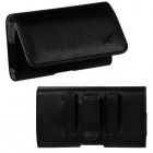 HTC EVO 4G LTE Black/Gray Textured Horizontal Pouch
