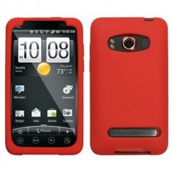 HTC EVO 4G Solid Skin Cover - Red