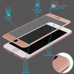 Apple iPhone 6/6s 3D Curved Edge Titanium Alloy Tempered Glass Screen Protector - Rose Gold