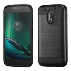 Motorola Moto E3 Black/Black Brushed Hybrid Case