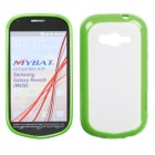 Samsung Galaxy Reverb Transparent Clear/Solid Green Gummy Cover