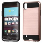 LG X Power / K6 Rose Gold/Black Brushed Hybrid Case