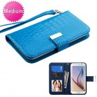Universal Blue Wallet with Wrist Lanyard