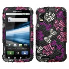 Motorola Atrix 4G Puppy Lover Diamante Phone Protector Cover