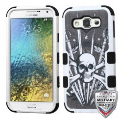 Samsung Galaxy E5 Sword & Skull/Black Hybrid Case