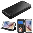 Samsung Galaxy S6 Black Wallet with Tray