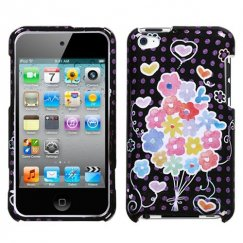 Apple iPod Touch (4th Generation) Flower Balloon (Sparkle) Case