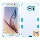 Samsung Galaxy S6 Ivory White/Tropical Teal Hybrid Case