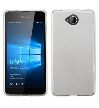 Nokia Lumia 650 Glossy Transparent Clear Candy Skin Cover