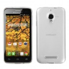 Alcatel One Touch Fierce Semi Transparent White Candy Skin Cover - Rubberized