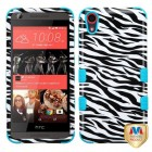 HTC Desire 626 Zebra Skin/Tropical Teal Hybrid Case