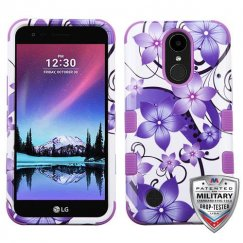 LG K10 Purple Hibiscus Flower Romance/Electric Purple Hybrid Case