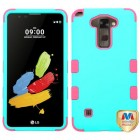 LG G Stylus 2 Rubberized Teal Green/Electric Pink Hybrid Phone Protector Cover