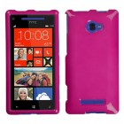 HTC Windows Phone 8x Solid Hot Pink Phone Protector Cover