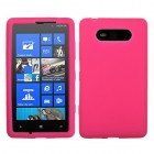 Nokia Lumia 820 Solid Skin Cover (Hot Pink)