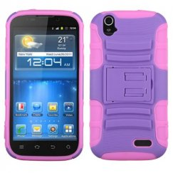 ZTE Grand X Purple/Electric Pink Advanced Armor Stand Case