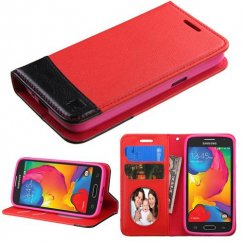 Samsung Galaxy Avant Red/Black wallet with Card Slot