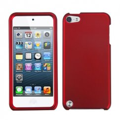 Apple iPod Touch (5th Generation) Titanium Solid Red Case