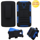 ZTE Uhura N817 Black/Dark Blue Advanced Armor Stand Case with Black Holster