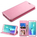 Samsung Galaxy S6 Edge Plus Pink Wallet with Tray