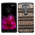 LG G Flex 2 Zebra Skin-Leopard Skin/Black Advanced Armor Protector Cover