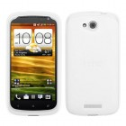 HTC One VX Solid Skin Cover (Translucent White)