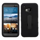 HTC One M9 Black/Black Symbiosis Stand Case
