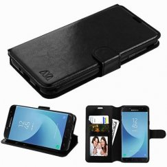 Samsung Galaxy J7 Black Wallet(with Tray) -WP