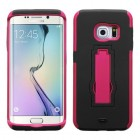 Samsung Galaxy S6 Edge Hot Pink/Black Symbiosis Stand Protector Cover