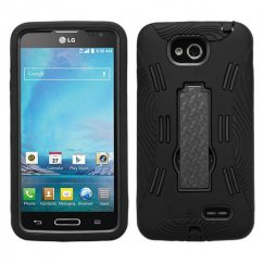LG Optimus L90 Black/Black Symbiosis Stand Case