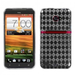 HTC EVO 4G LTE T-Clear Argyle Pane Candy Skin Cover