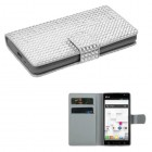 LG Optimus L9 Silver Diamonds Book-Style Wallet with Card Slot
