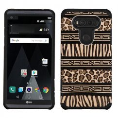 LG V20 Zebra Skin-Leopard Skin/Black Advanced Armor Case