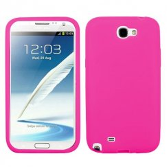 Samsung Galaxy Note 2 Solid Skin Cover - Hot Pink