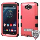 Motorola Droid Turbo XT1254 Natural Pink/Black Hybrid Phone Protector Cover (with Stand)